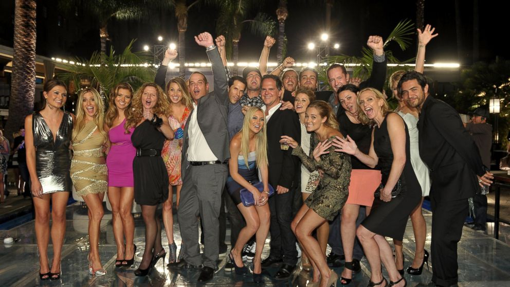 Cast and crew members; are seen at the MTV's 'The Hills Live: A Hollywood Ending' Finale event held at The Roosevelt Hotel, July 13, 2010, in Hollywood, Calif.