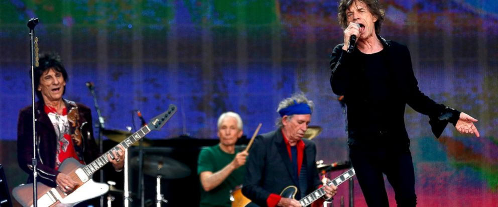 PHOTO: Ronnie Wood, Charlie Watts, Mick Jagger and Keith Richards of The Rolling Stones perform during day two of British Summer Time Hyde Park presented by Barclaycard at Hyde Park in London, July 6, 2013.