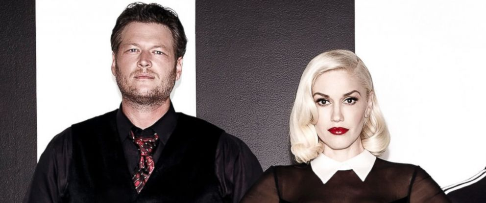"PHOTO:Blake Shelton and Gwen Stefani appear in an undated file photo to promote ""The Voice."""