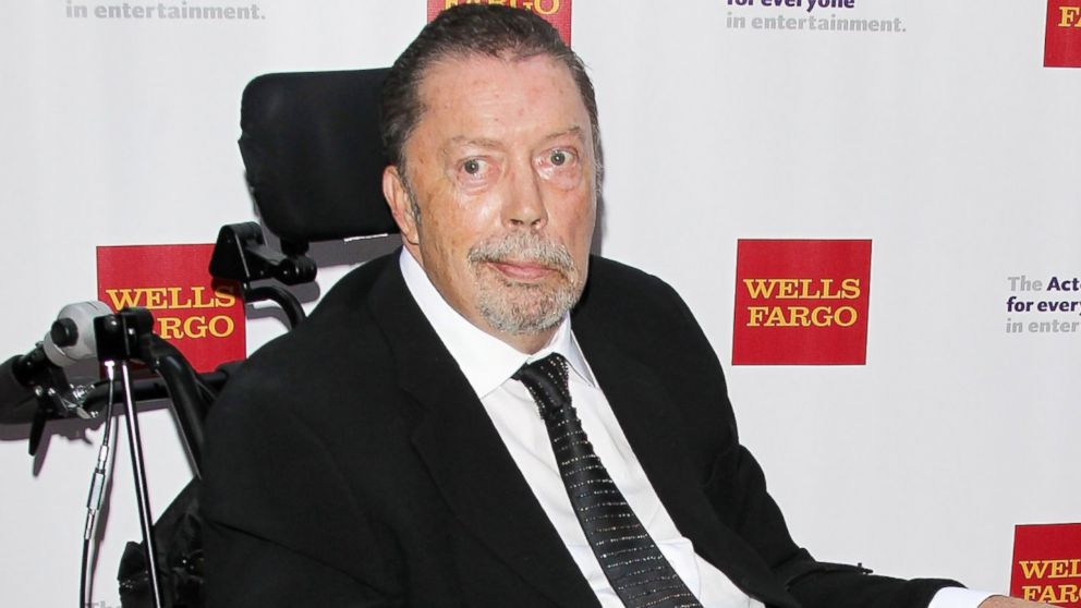Tim Curry arrives at The Actors Fund's 19th Annual Tony Awards viewing party held at Skirball Cultural Center, June 7, 2015, in Los Angeles.