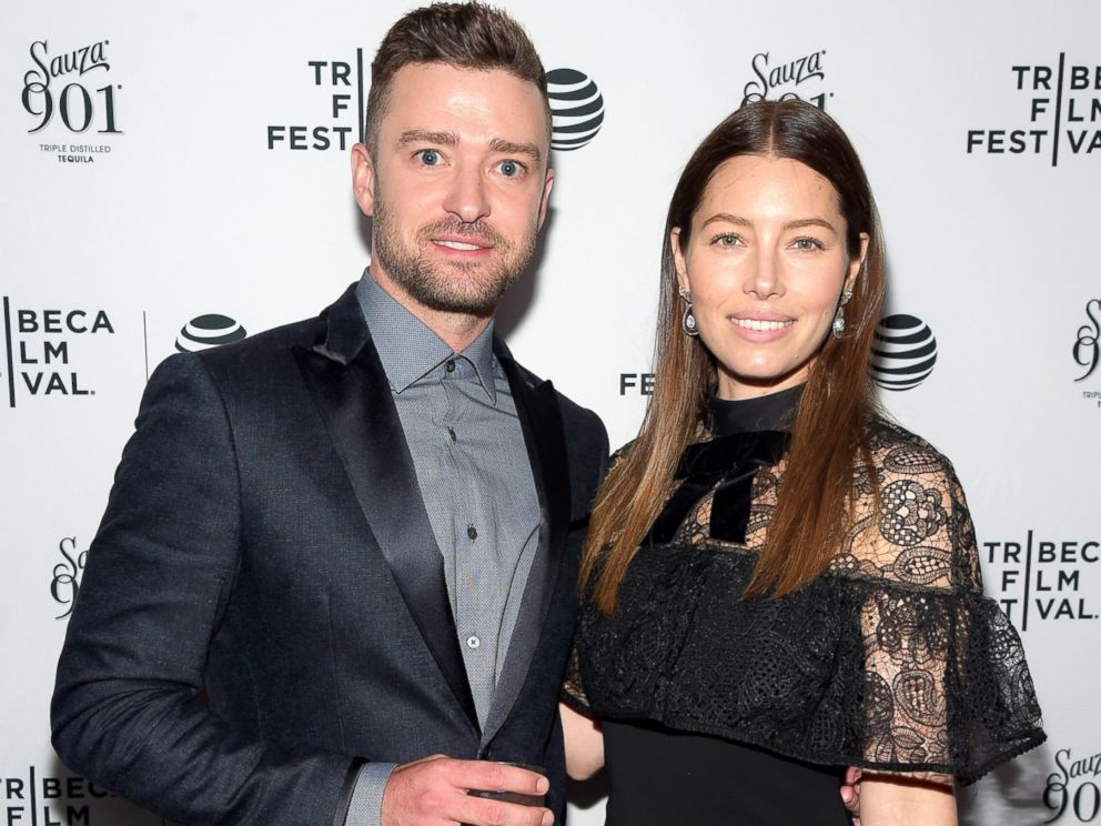 PHOTO: Justin Timberlake and Jessica Biel arrive at the Tribeca Film Festival Devil and the Deep Blue Seascreening, April 14, 2016, in New York City.