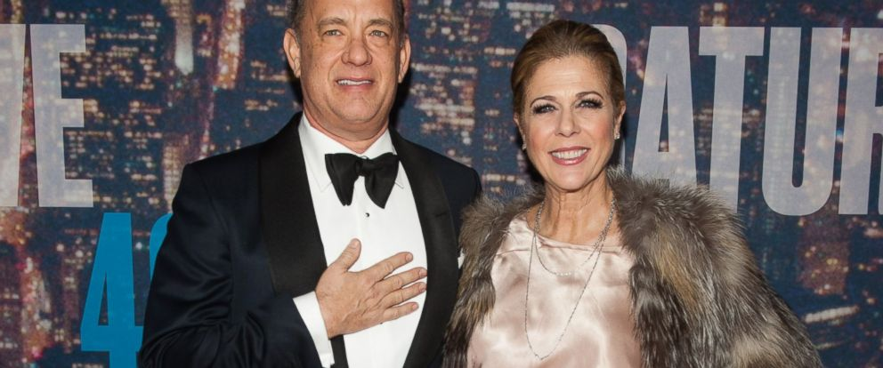 PHOTO: Tom Hanks and Rita Wilson attend the SNL 40th Anniversary Celebration at Rockefeller Plaza, Feb. 15, 2015, in New York.