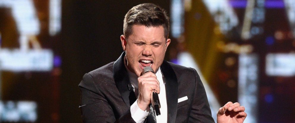PHOTO: American Idol Season 15 winner Trent Harmon performs coronation song onstage during FOXs American Idol Finale For The Farewell Season at Dolby Theatre, April 7, 2016, in Hollywood, Calif.