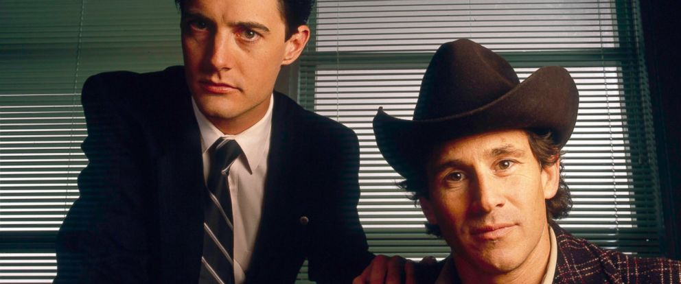 """PHOTO: Kyle MacLachlan and Michael Ontkean in a scene from """"Twin Peaks."""""""