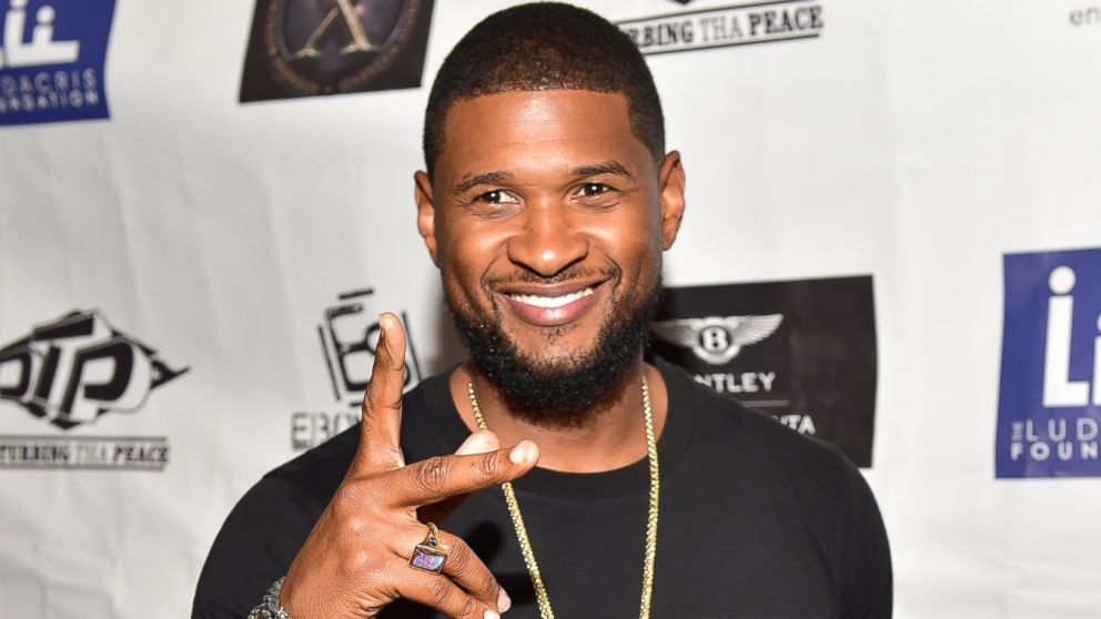 Usher Steps Out With Grace Miguel Wearing A Gold Band Abc News