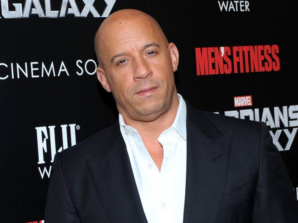PHOTO: Vin Diesel attends The Cinema Society with Mens Fitness & FIJI Water host a screening of Guardians of the Galaxy, July 29, 2014, in New York.