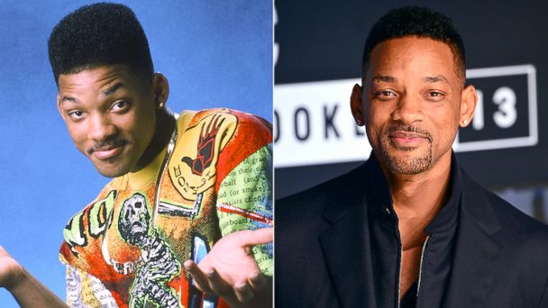 "PHOTO: Will Smith, left, as William Will Smith in ""The Fresh Prince Of Bel-Air."" Will Smith, right, attends the 2013 MTV Video Music Awards on Aug. 25, 2013 in New York."