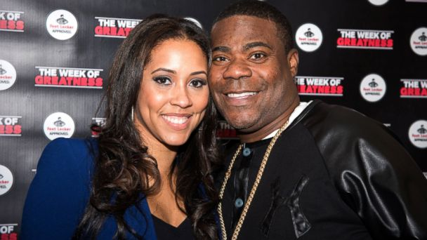 PHOTO: Tracy Morganand wife Megan Wollover attend the Fourth Annual Week Of Greatness Kick Off Event Hosted By Tracy Morgan at The Wooly, Nov. 17, 2015, in New York City.
