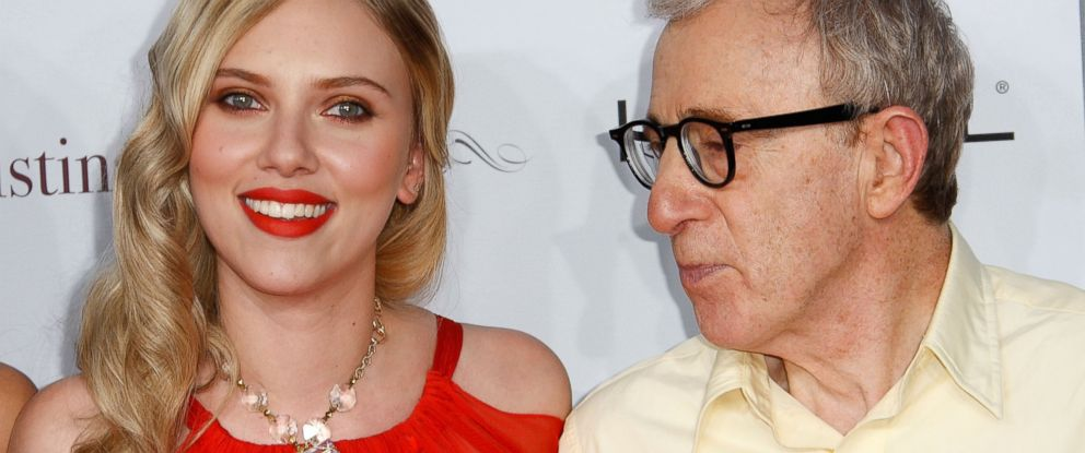 """PHOTO: Scarlett Johansson, left, and Woody Allen, right, arrive at the premiere of """"Vicky Cristina Barcelona"""" on Aug. 4, 2008 in Westwood, Calif."""