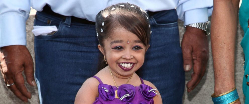 PHOTO: Jyoti Amge visits at The Empire State Building in this Sept 12, 2013, file photo in New York City.