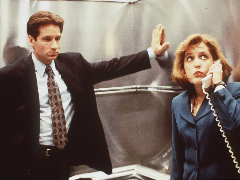 PHOTO: David Duchovny and Gillian Anderson in a scene from the show X-Files.