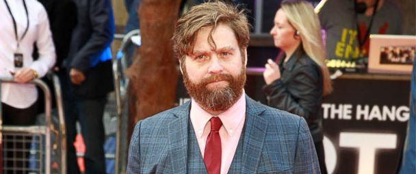 PHOTO: From left, Zach Galifianakis in London, May 22, 2013, and Galifianakis in New York in 2014
