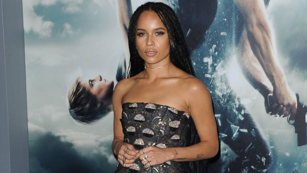 "Actress Zoe Kravitz attends the ""The Divergent Series: Insurgent"" premiere at the Ziegfeld Theater, March 16, 2015, in New York."