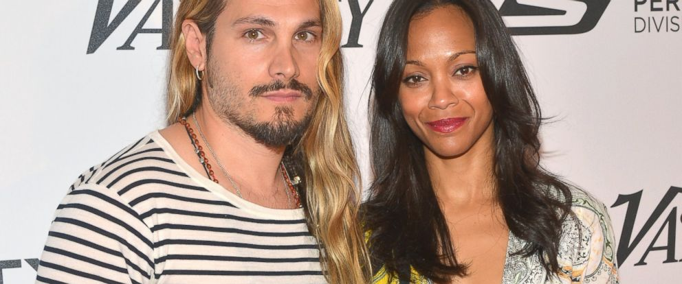 PHOTO: Marco Perego and Zoe Saldana attend the Relativity at 10 party at Hotel du Cap-Eden-Roc, May 18, 2014, in Cap dAntibes, France.