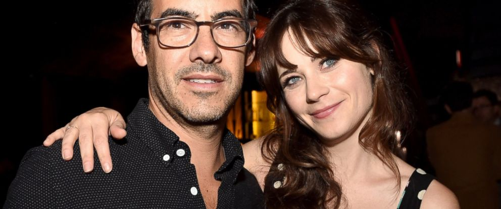"""PHOTO: Jacob Pechenik and Zooey Deschanel pose at the after party for the premiere of Roadside Attractions """"The Skeleton Twins"""" at The Argyle, Sept. 10, 2014, in Los Angeles."""