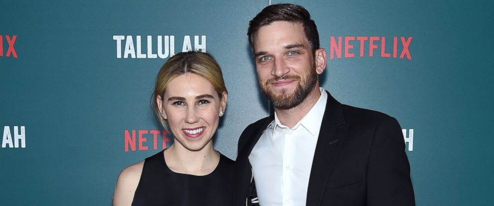 """PHOTO: Zosia Mamet and Evan Jonigkeit attend a special screening of """"Tallulah,"""" July 19, 2016 in New York City."""