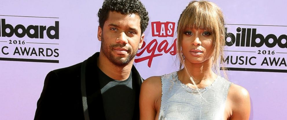 PHOTO: Russell Wilson and Ciara arrives at the 2016 Billboard Music Awards at T-Mobile Arena, May 22, 2016, in Las Vegas.