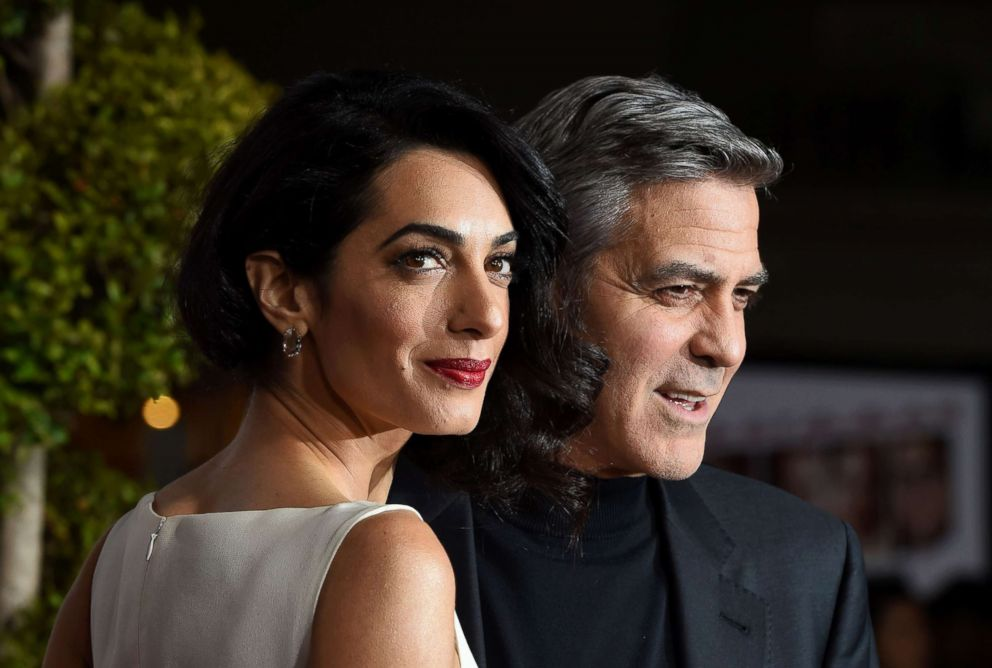 PHOTO: George Clooney and wife Amal attend an event in Westwood, Calif., on Feb. 1, 2016.