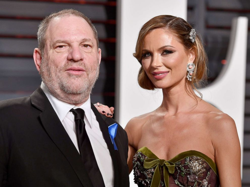 PHOTO: Harvey and Georgina Weinstein attend the 2017 Vanity Fair Oscar Party hosted by Graydon Carter at Wallis Annenberg Center for the Performing Arts on Feb. 26, 2017, in Beverly Hills, California.