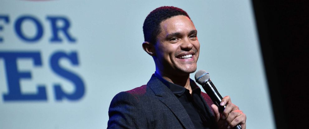 PHOTO: Trevor Noah speaks onstage during the 11th Annual Stand Up for Heroes Event presented by The New York Comedy Festival and The Bob Woodruff Foundation at The Theater at Madison Square Garden on November 7, 2017 in New York City.