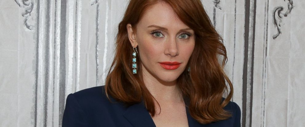"""PHOTO: Bryce Dallas Howard Discusses Her New Film """"Jurassic World"""" at AOL Studios on June 1, 2015 in New York."""