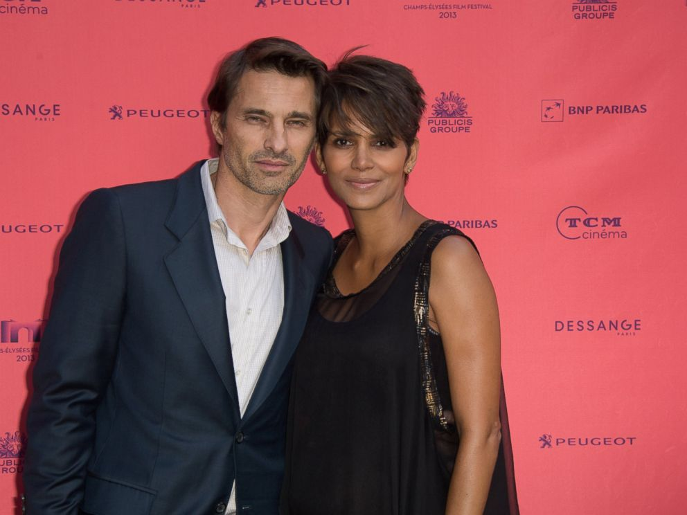 PHOTO: Olivier Martinez and Halle Berry attend the Toiles Enchantees red carpet as part of the Champs Elysees Film Festival, June 13, 2013, in Paris.
