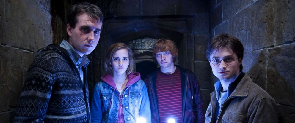 """PHOTO: From left, Matthew Lewis, Emma Watson, Rupert Grint and Daniel Radcliffe star in the film """"Harry Potter and the Deathly Hallows: Part 2."""""""