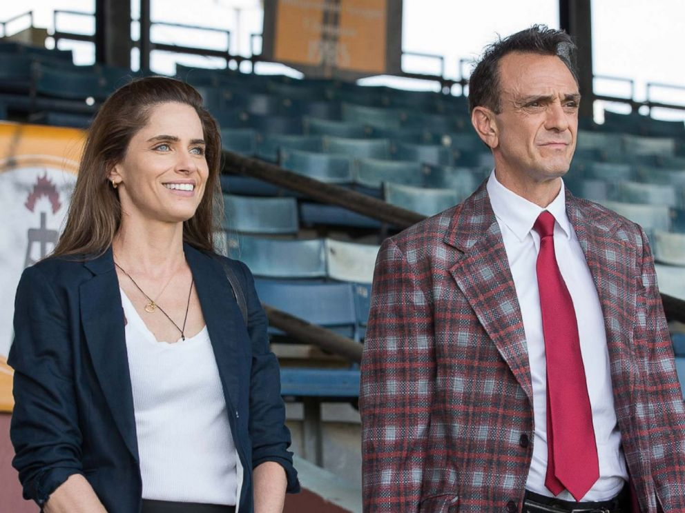 PHOTO: Hank Azaria and Amanda Peet in the film Brockmire, 2017.