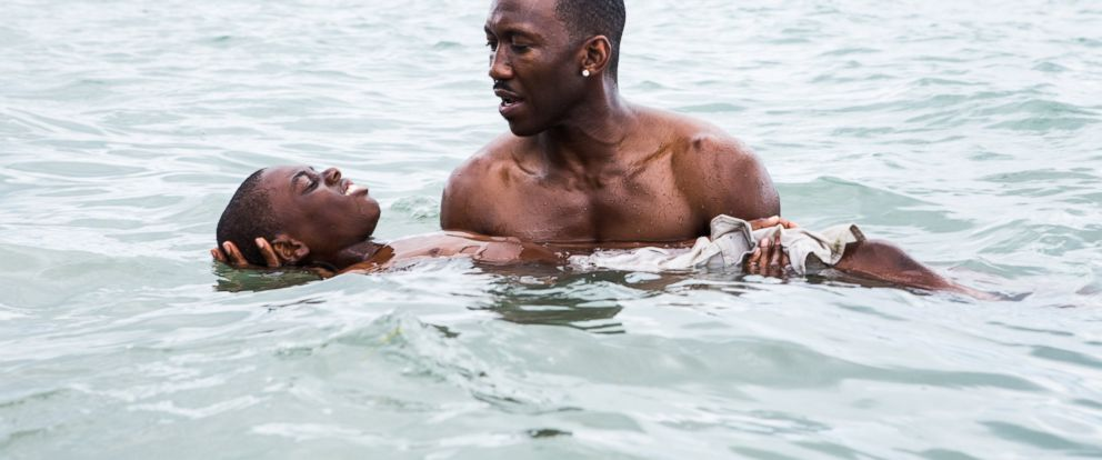 "PHOTO: Alex Hibbert and Mahershala Ali in ""Moonlight."""