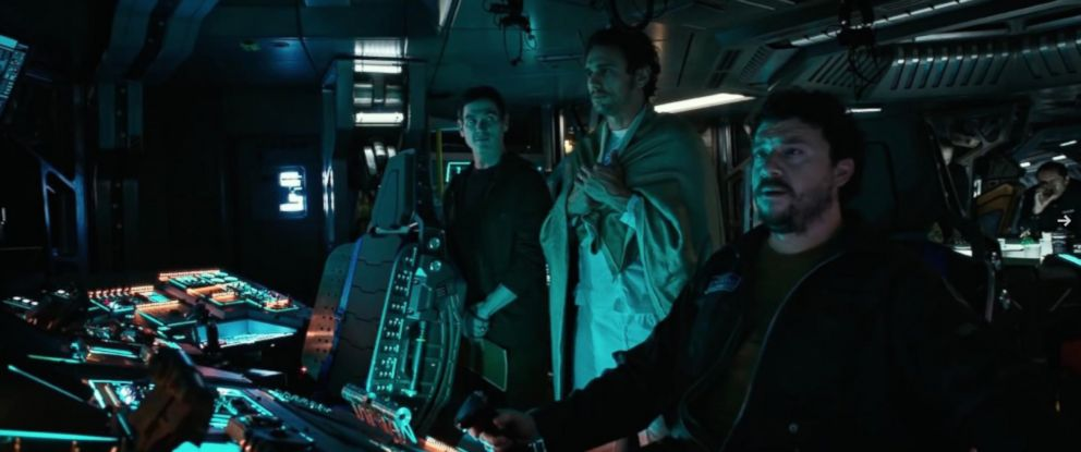PHOTO: Billy Crudup, James Franco and Danny McBride in Alien: Covenant.