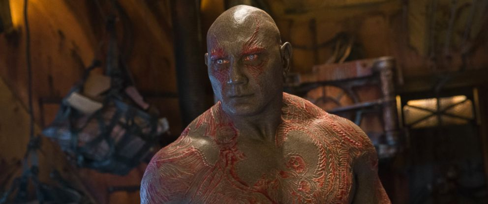 PHOTO: Dave Bautista as Drax in Guardians Of The Galaxy Vol. 2.