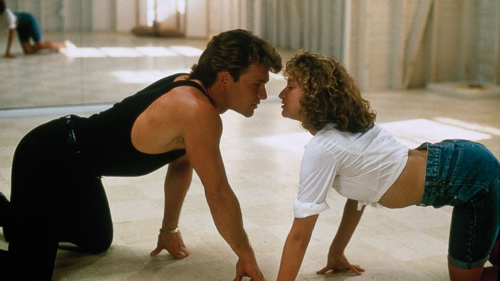 "Jennifer Grey and Patrick Swayze in the movie ""Dirty Dancing,"" 1987."