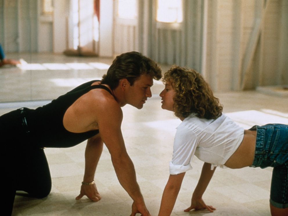 PHOTO: Jennifer Grey and Patrick Swayze in the movie Dirty Dancing, 1987.
