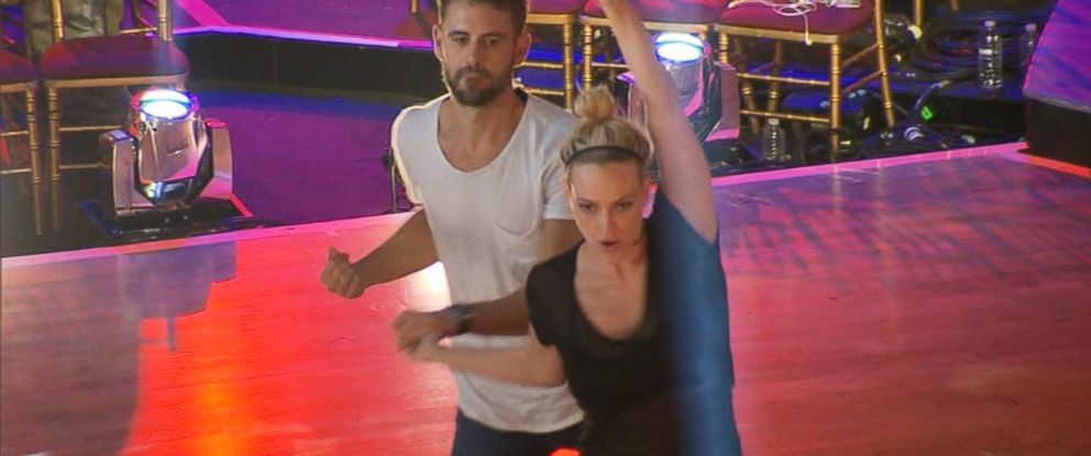 "PHOTO: Nick Viall and Peta Murgatroyd rehearse for the premiere of ""Dancing With the Stars."""