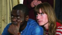 PHOTO: Daniel Kaluuya and Allison Williams in the movie Get Out, 2017.