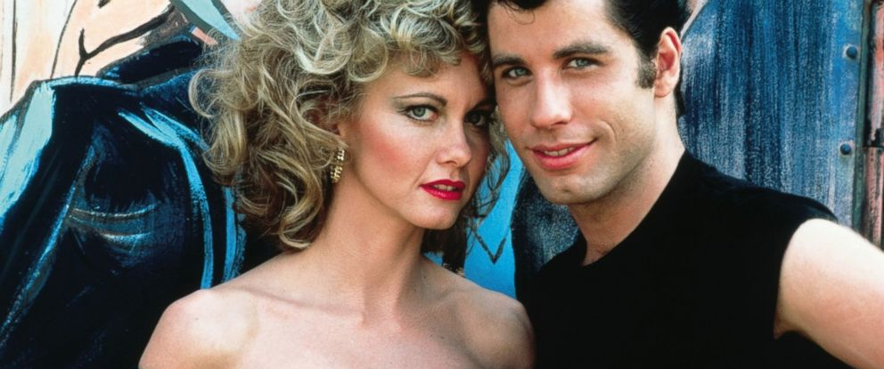 "PHOTO: John Travolta and Olivia Newton-John in the film ""Grease,"" 1978."