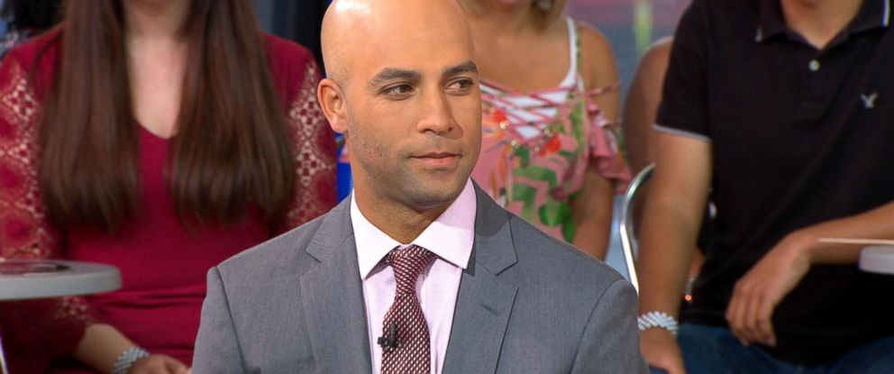 "PHOTO: James Blake appears on ""Good Morning America"" to discuss his new book, ""Ways of Grace."""