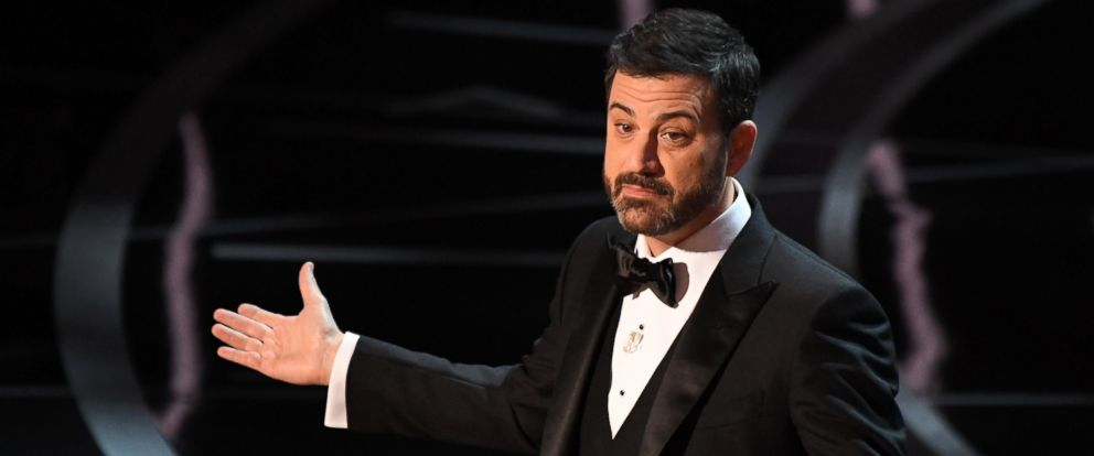 PHOTO: Jimmy Kimmel delivers opening remarks during the 89th Academy Awards at Dolby Theatre, on Feb 26, 2017, Hollywood, Calif.
