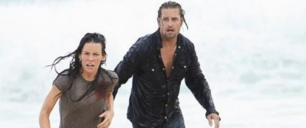 "PHOTO: Josh Holloway and Evangeline Lilly in ""The End"" episode of the ABC Television Network ""Lost,"" in 2004."