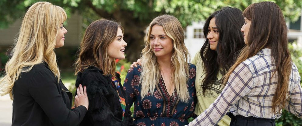 """PHOTO: Seven seasons of secrets come tumbling out in the two-hour series finale of the hit original series """"Pretty Little Liars,"""" airing Tuesday, June 27 on ABC."""