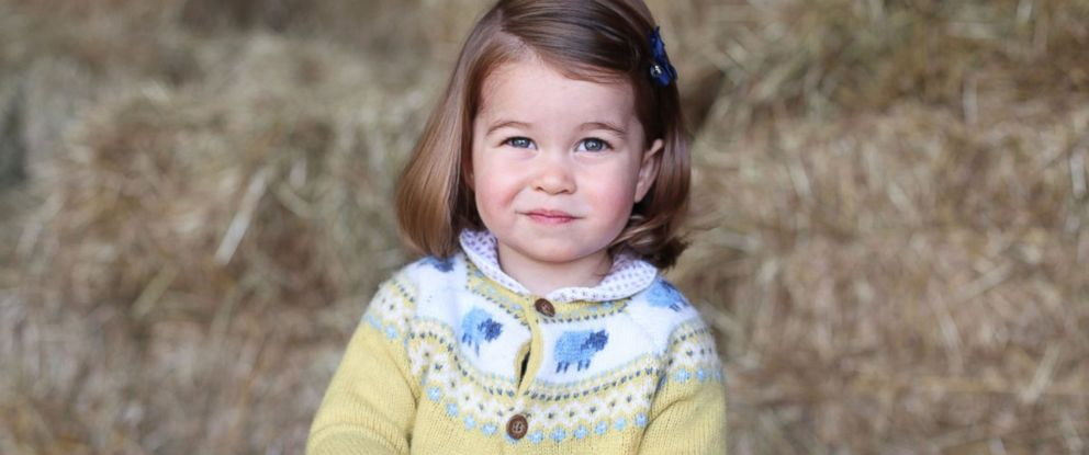 """PHOTO: Kensington Palace posted this photo of Princess Charlotte with the caption, """"The Duke and Duchess are delighted to share a new photograph of Princess Charlotte to mark her second birthday tomorrow,"""" on May 2, 2017."""