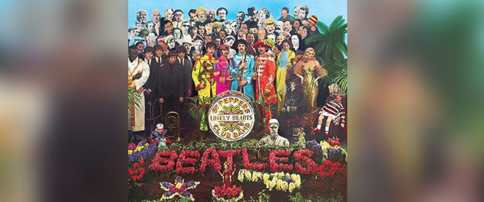 "PHOTO: The album cover from the Beatles, ""Sgt. Peppers Lonely Hearts Club Band."""