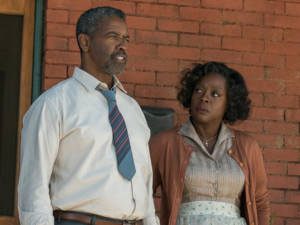 PHOTO: Denzel Washington plays Troy Maxson and Viola Davis plays Rose Maxson in Fences from Paramount Pictures. Directed by Denzel Washington from a screenplay by August Wilson.