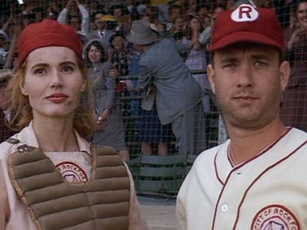 PHOTO: Geena Davis and Tom Hanks in A League of Their Own.