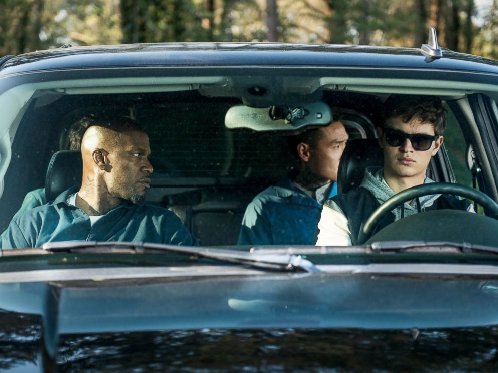 PHOTO: Ansel Elgort, Jamie Foxx, Lanny Joon and Flea Balzary in TriStar Pictures Baby Driver.