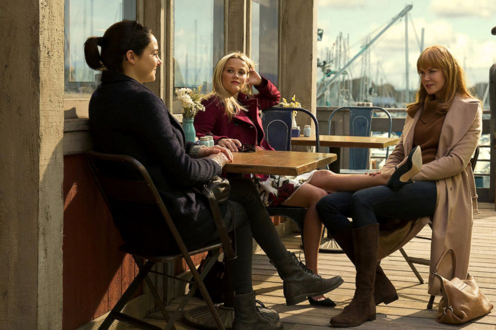 PHOTO: Shailene Woodley, as Jane Chapman, Reese Witherspoon, as Madeline Martha Mackenzie, and Nicole Kidman, as Celeste Wright, in a scene from Big Little Lies.