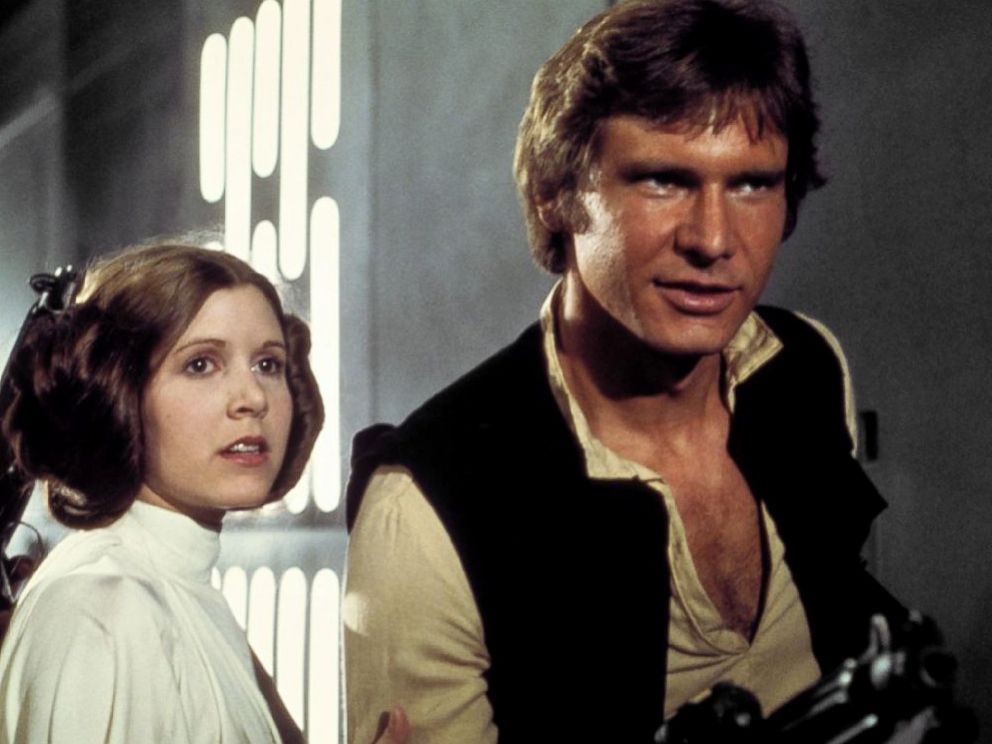 PHOTO: Mark Hamill, Carrie Fisher and Harrison Ford appear in a scene from the 1977 film, Star Wars: A New Hope.