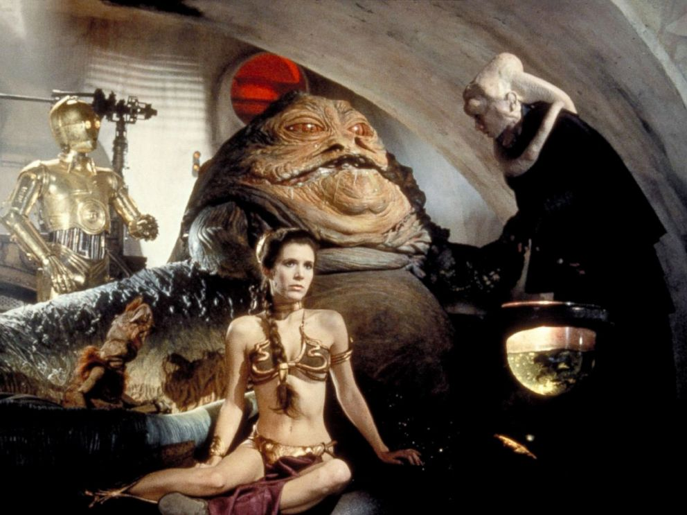 PHOTO: Carrie Fisher, center, as Princess Leia, in a scene from Star Wars: Return of the Jedi.