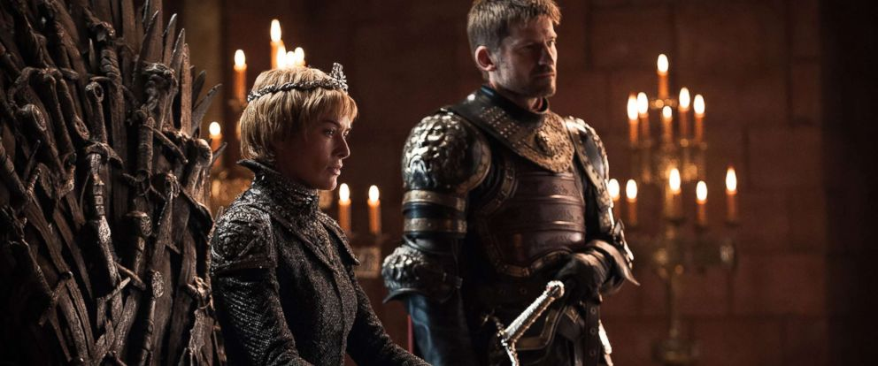 "PHOTO: Lena Headey as Cersei Lannister and Nikolaj Coster-Waldau as Jaime Lannister in the ""Game of Thrones."""