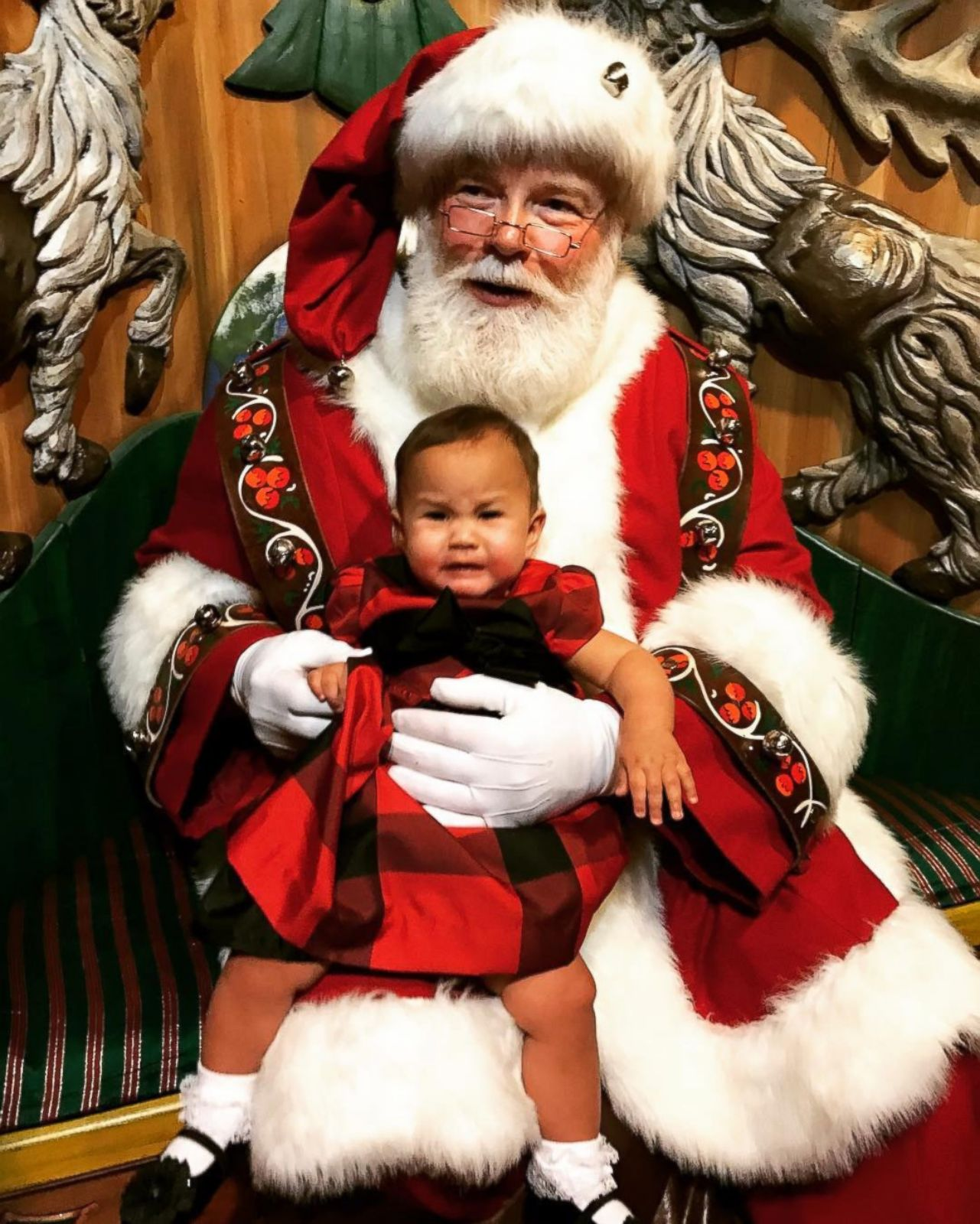 Chrissy Teigen Brings Her Daughter To Meet Santa Picture